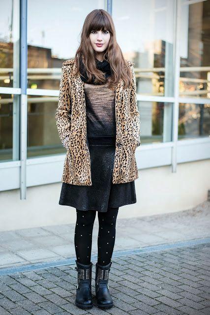 Outfit mit Leomantel