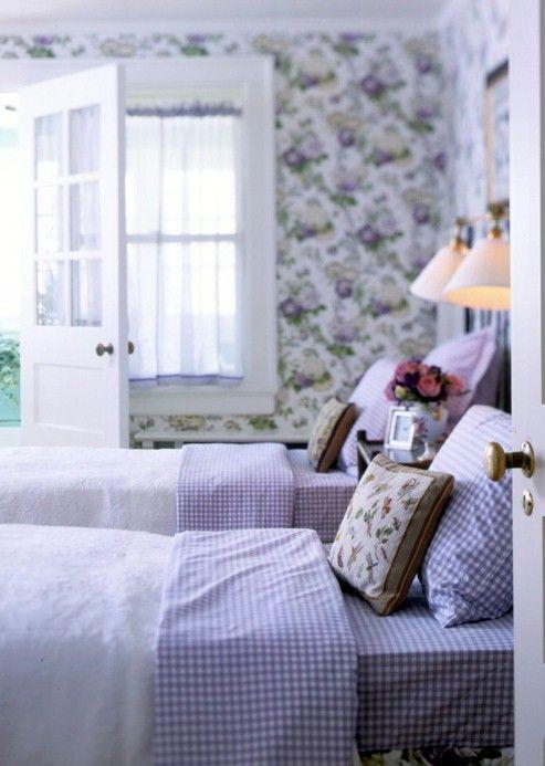 lavender gingham sheets