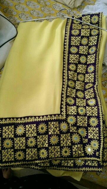 "Sindhi embroidery ""hurmucha"" with mirrors"