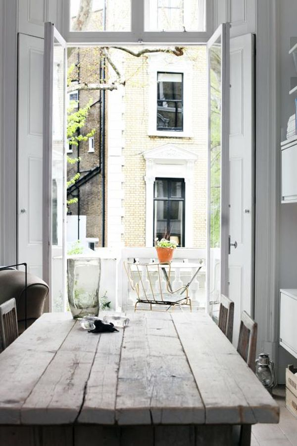 I'd sit there.Dining Room, French Doors, Interiors, Kitchens Tables, Rustic Tables, Wood Tables, Breakfast Room, Wooden Tables, Dining Tables