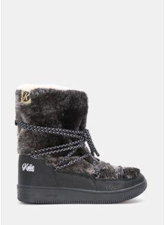 Czarne śniegowce fur faux Taye