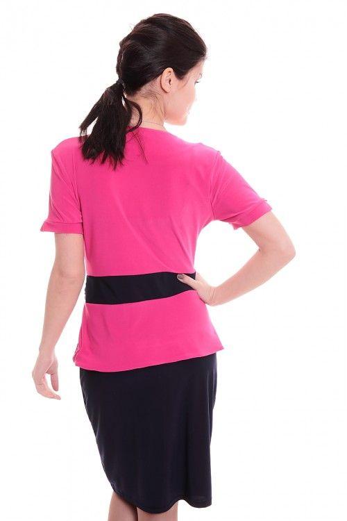 Платье А6588 Размеры: 42-50 Цвет: темно-синий + малиновый Цена: 750 руб.  http://optom24.ru/plate-a6588/  #одежда #женщинам #платья #оптом24
