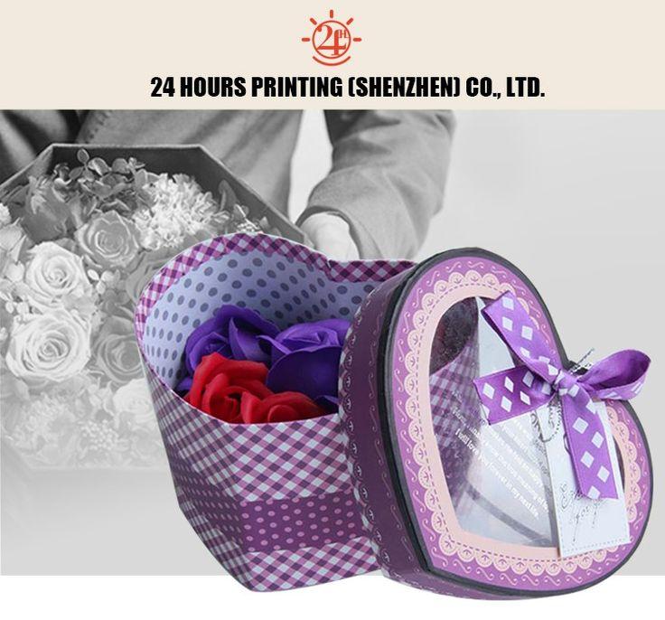 disegno differente di cartone di lusso scatola di imballaggio per i fiori con logo personalizzato