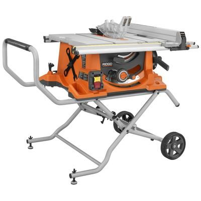 RIDGID - RIDGID 10 In. Portable Table Saw with Stand - TS2400LS - Home Depot Canada