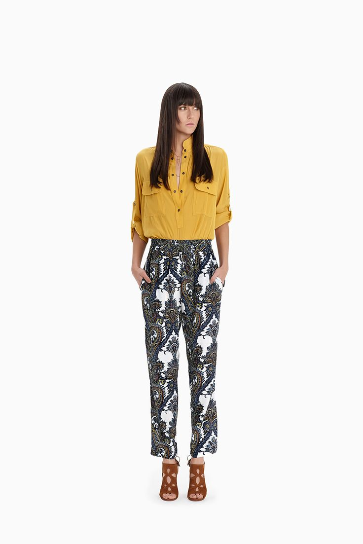 Gold Field Shirt + Folk Print Soft Pant