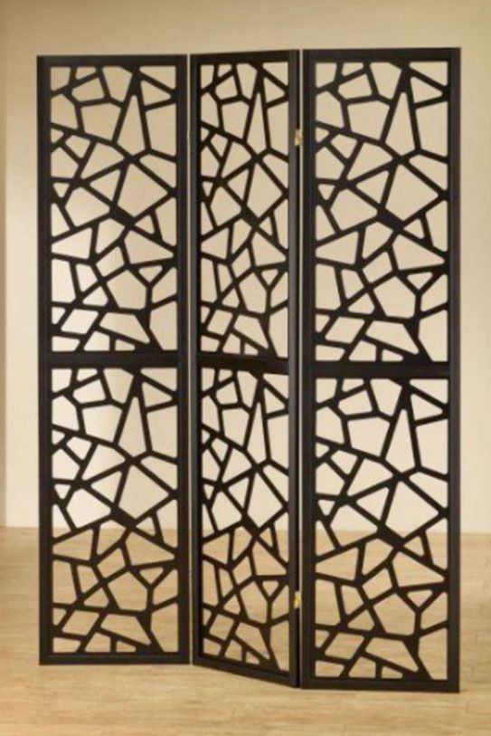 This Uniquely Designed 3 Panel Folding Screen Is Both A Stylish Piece Of  Accent Furniture For