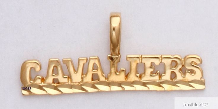 Cleveland Cavaliers Team Name Necklace Pendant 24k Gold Plated NBA Fan Jewelry #Unbranded #Pendant