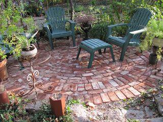 Small round brick patio