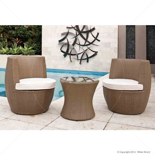 Stacking Vase 3pc Set - Natural - Buy Wicker Outdoor Furniture & Outdoor Furniture Sydney - Milan Direct $269