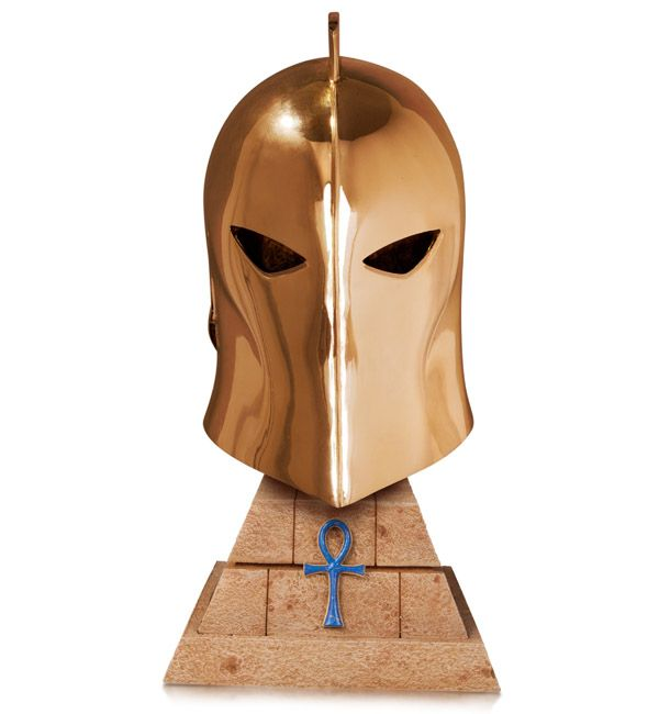 Possess a little bit of a Lord of Order with the Constantine Doctor Fate Helmet Prop Replica, and have a clever Constantine Easter egg at the same time.  In addition to meeting a master petty dabbler of the Dark Arts in the first episode of the Constantine TV series, fans of the comic book cha