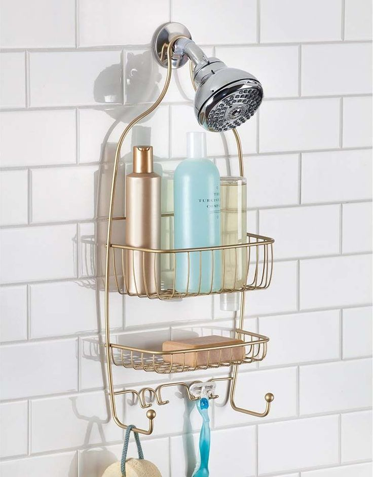 shower caddy bathroom organizer shelf storage soap shampoo holder rack bath interdesign