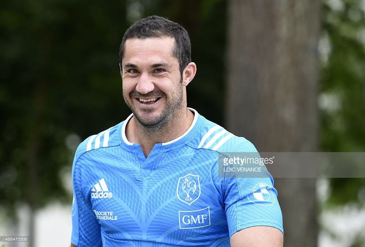 France's full-back Scott Spedding arrives to attend the captain's run training session on September 4, 2015 at the Rugby national technical center in Marcoussis, outside Paris, on the eve of the rugby union test match France vs Scotland.