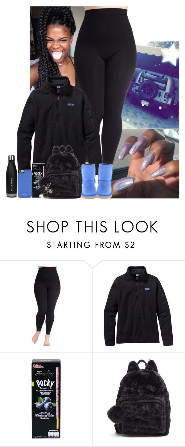 """"" by jemilaa ❤ liked on Polyvore featuring Patagonia, UGG Australia, Kate Spade and plus size clothing"