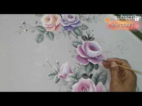 Step 4: Finishing Painting of Roses, Art Fabric Painting Design Craft