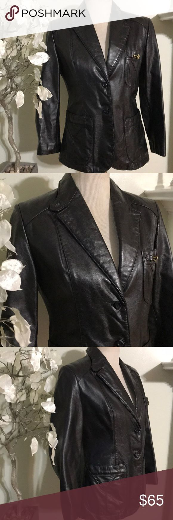 ETIENNE AIGNER LEATHER JACKET Stunning elegant jacket, thick 100% genuine leather, great quality, fully lined Etienne Aigner Jackets & Coats Blazers