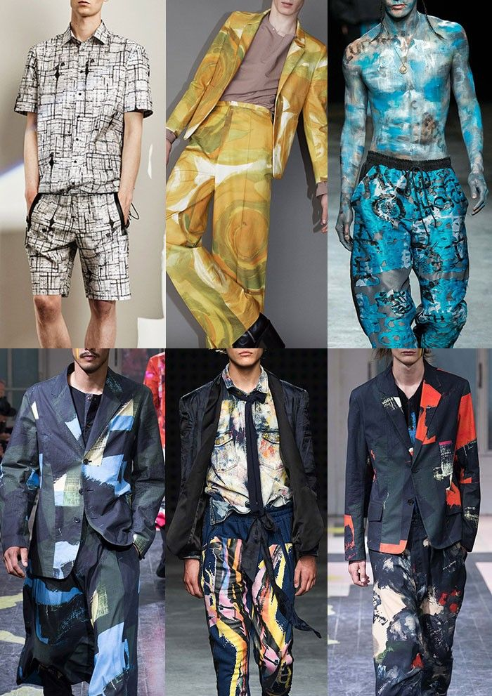 Menswear Spring/Summer 2016 Catwalk Print & Pattern Trend Highlights Part 2 - Artists Studio - Joseph / Acne / Man / Yohji Yamamoto / James Long / Yohji Yamamoto