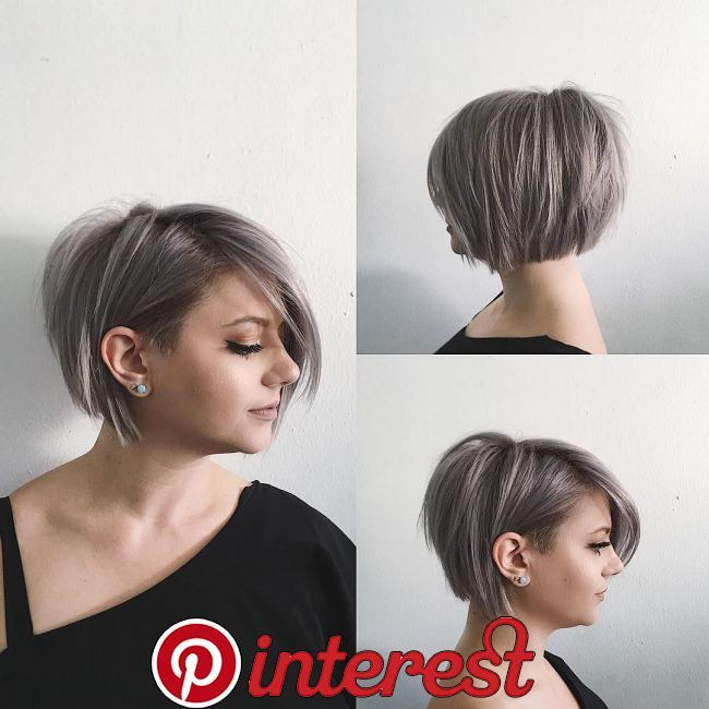 Women's Undone Voluminous Silver Bob with Clean Lines and ...