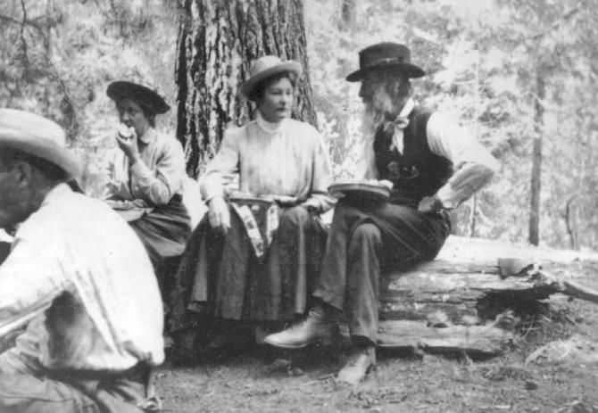 #TodayInCAHistory: Founded by #CAHallofFame inductee John Muir, the Sierra Club was incorporated on June 4, 1892 with the mission of preserving the Sierra Nevada Mountains. [Image: 1908 Kern River Sierra Club outing attended by (L-R) Miss Nora Thomas, Miss Kneffer & John Muir. Courtesy Sierra Club & William E. Colby Memorial Library.]