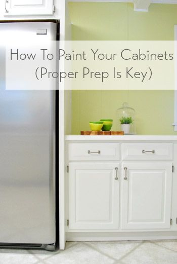 How To Paint Your Cabinets (Hallelujah, They're Done!)   Young House Love