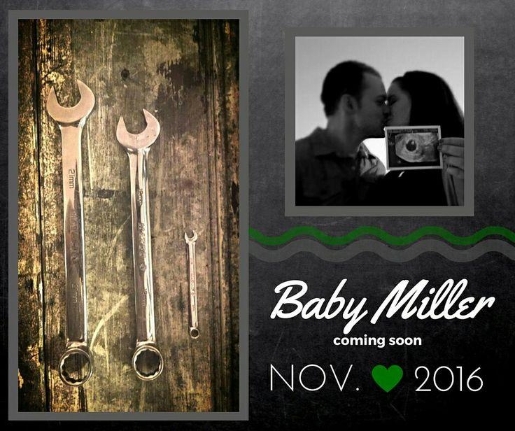 Mechanic Baby Announcement.