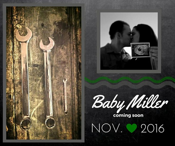 Mechanic Baby Announcement.