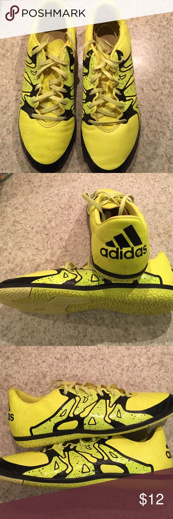 Adidas Youth Indoor Soccer Shoes Youth indoor soccer shoes. Worn one indoor season. Excellent condition. Smoke free home. adidas Shoes Sneakers