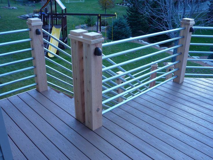 Small yard patio update garden love pinterest - Galvanized Tubing Deck Rail Patio Ideas Pinterest