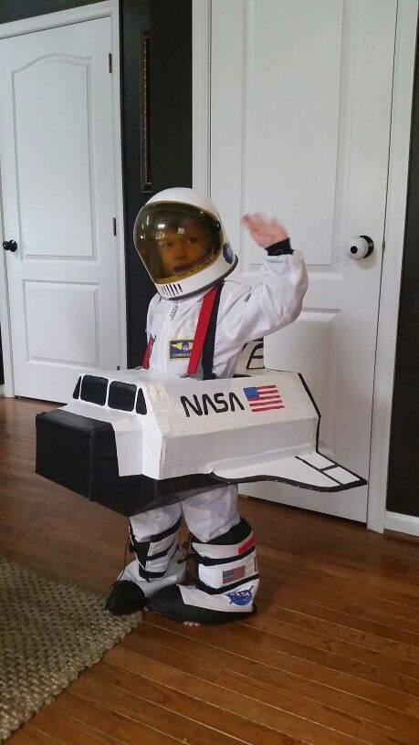 Luke diy cardboard rocket ship halloween costume!  It's out of this world!