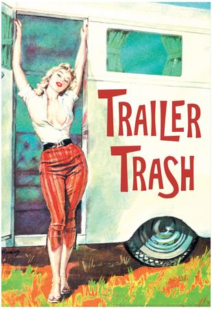 Trailer Trash Woman Outside RV Camper Funny Poster