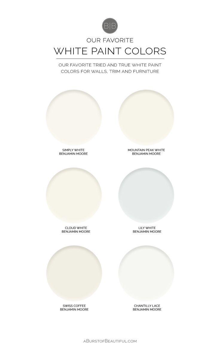 The Best White Paint Colors White Paint Colors Best White Paint