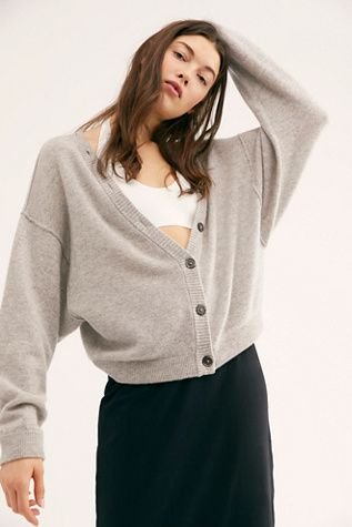 e1ccd2715e5 Better Days Cashmere Cardi - Gray V-Neck Cashmere Cardigan - Gray Cashmere  Cardigans for Women - Cashmere Sweaters - Gray Cashmere Sweaters - Gray  School ...