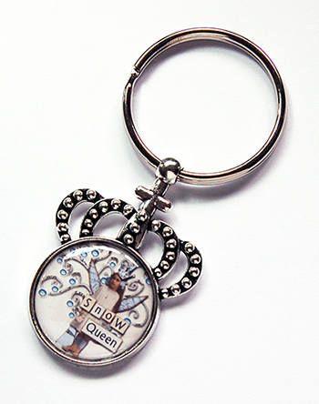 Snow Queen keychain Crown Keyring Queen Key Ring gift under