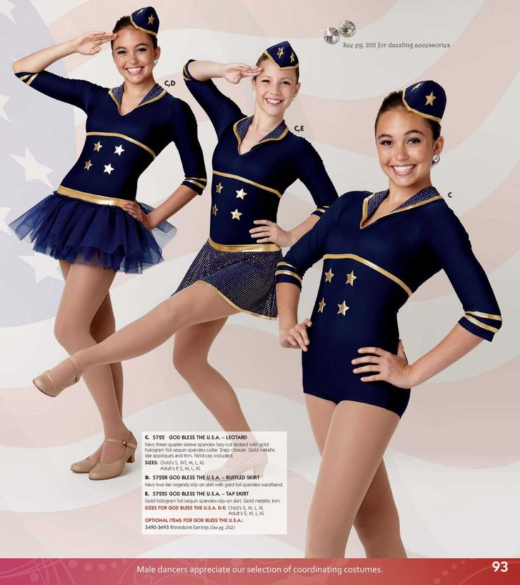 [2014 Song: God Bless the USA, Patriotic  Dance, Baton, Tap Competition Costume www.dancecostume.com
