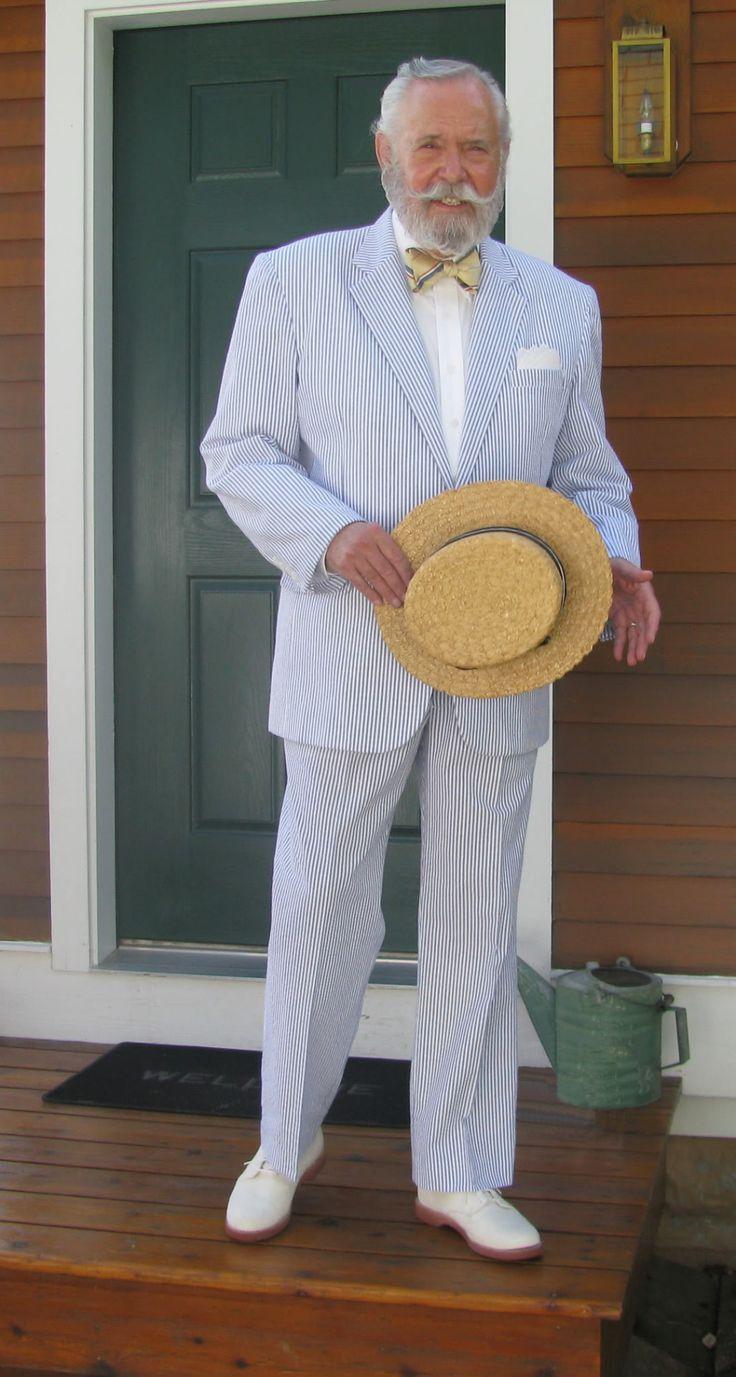 Glengarry sporting club photo seersucker suit