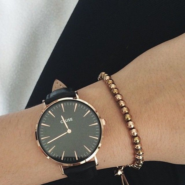 Black and gold watch - looking for rose gold & black