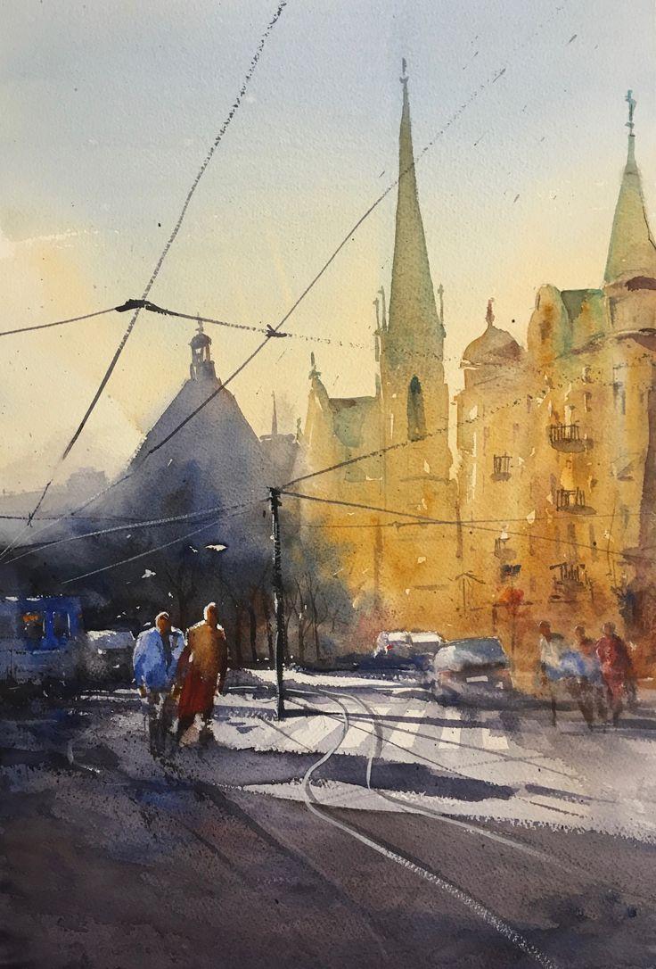 watercolor, Stefan Gadnell SOLD