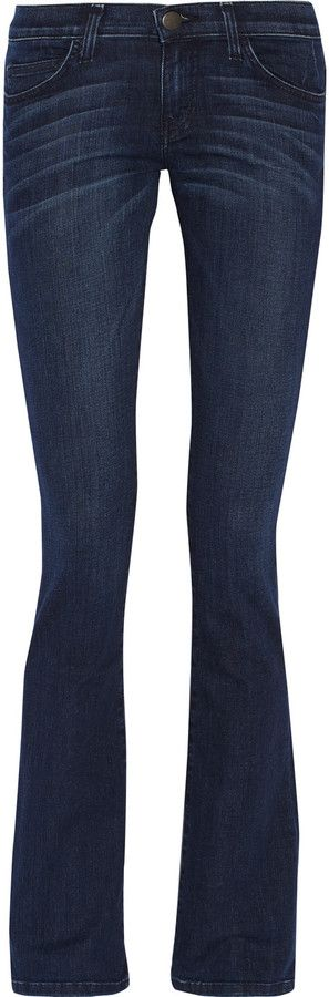 Current/Elliott The Slim Boot low-rise bootcut jeans