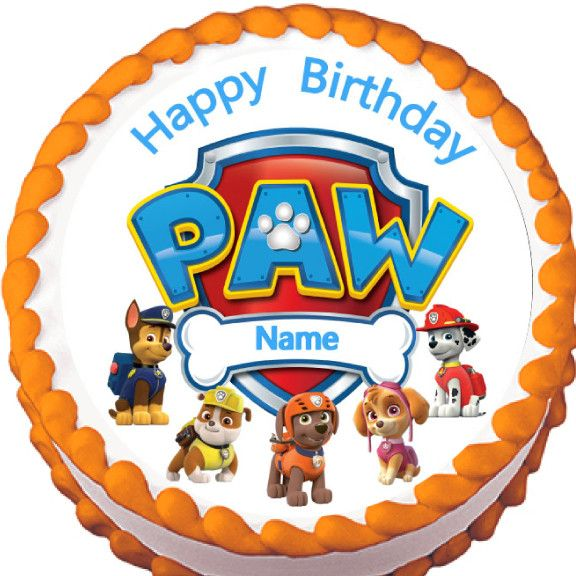 Paw Patrol Characters Edible Cake Topper