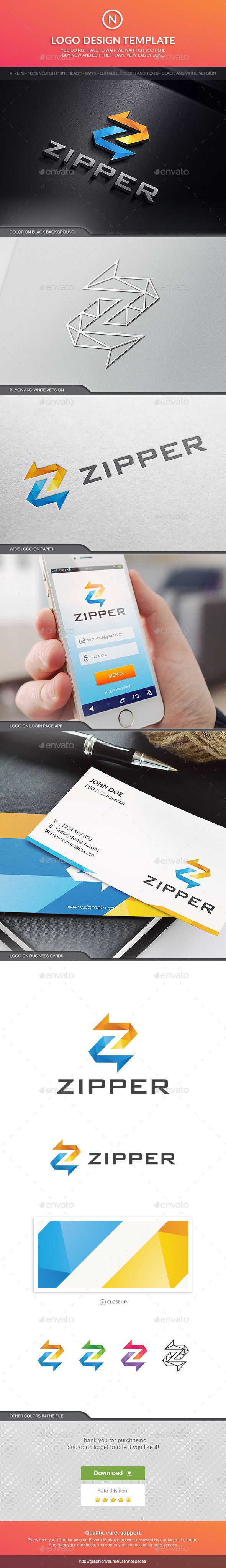 Zipper Letters Logo Templates 60 best