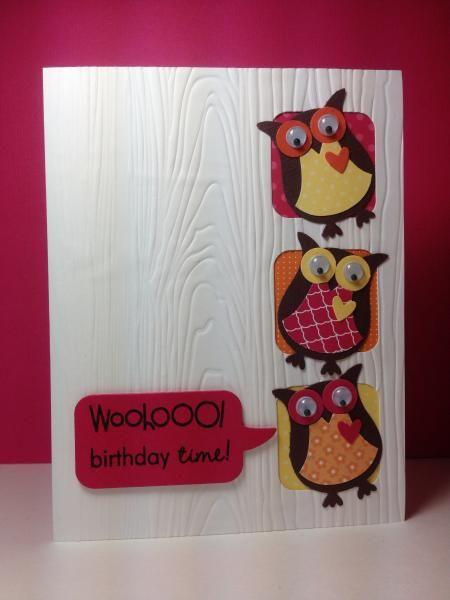 Owl Punch: SU!, tee square craft die: SSS, by beesmom - Cards and Paper Crafts at Splitcoaststampers