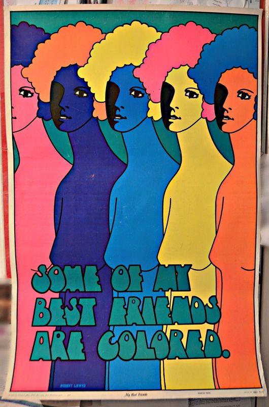 Vintage black-light poster