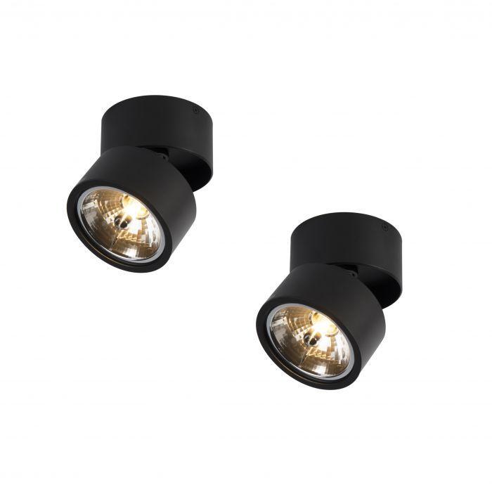 Set Of 2 Spotlights Go Nine Tubo Black Verlichting Lichten Fitting
