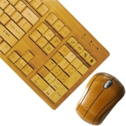 Impecca wooden keyboard & mouse.