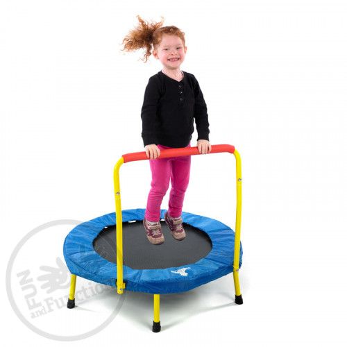 Small Portable Trampoline for Kids | Fold-and-Go Trampoline