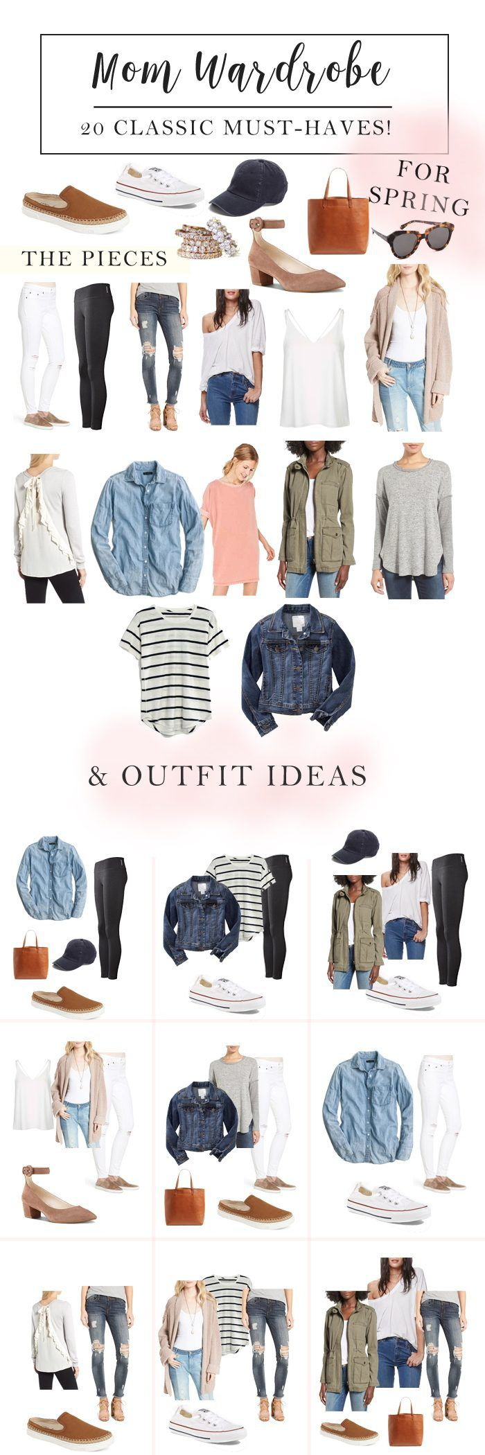 Mom Wardrobe Classic Must Haves for Spring // Mom outfit ideas for spring // Spring outfit ideas // Spring style