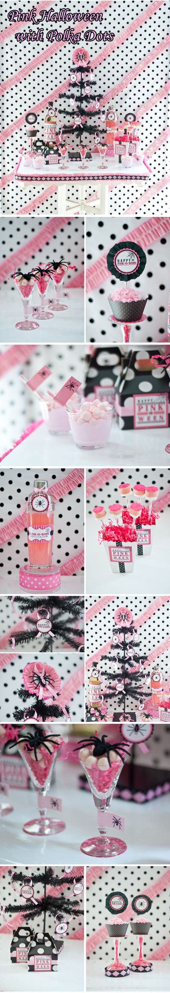 226 best Halloween 'Pink-O-Ween' Theme Party Decorations & Ideas ...