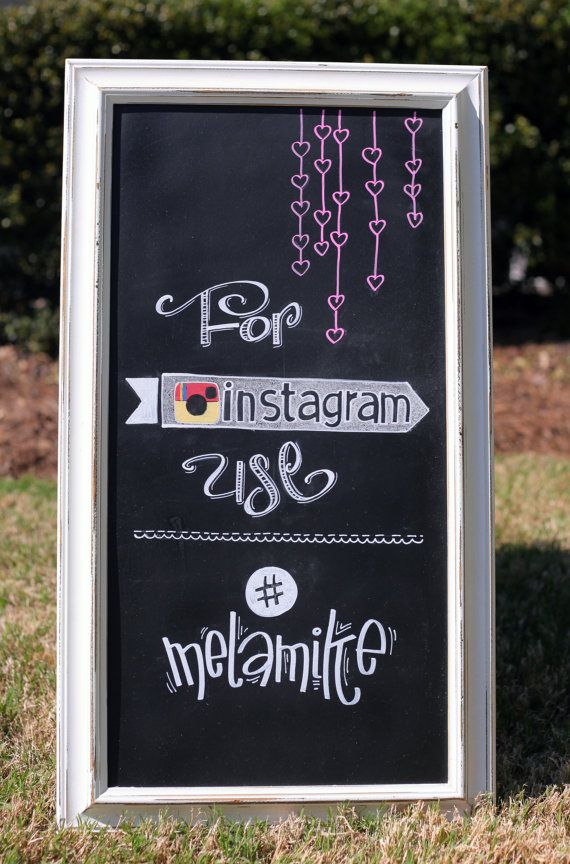 Cute Instagram sign