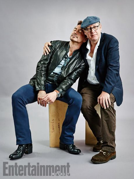 Robert Downey Jr. and James Spader, Avengers: Age of Ultron. See more stunning star portraits from our photo studio at San Diego Comic-Con 2014 here: http://www.ew.com/ew/gallery/0,,20399642_20837151,00.html