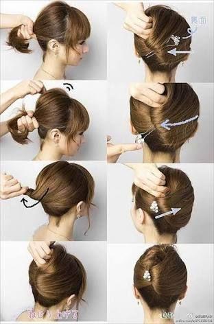 Resultado de imagen para peinados recogidos paso a paso