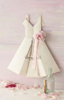 milleideeperunafesta: Vestito origami per inviti o menù